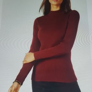 Cotton mork-neck sweater